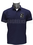 Kappa Alpha Pi Men's Polo Shirt with Crest, Navy Blue