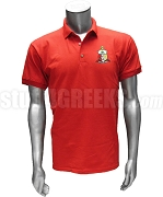 Kappa Alpha Psi Coat of Arms Polo Shirt, Red