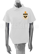 Kappa Alpha Theta Polo Shirt with Crest, White