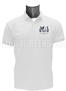 Kappa Chi Phi Polo Shirt with Crest, White