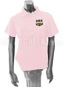 Kappa Delta Chi Polo Shirt with Crest, Pink