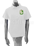 Kappa Delta Polo Shirt with Crest, White