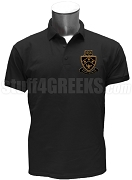 Kappa Delta Phi Polo Shirt with Crest, Black