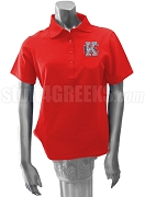 Kappa Epsilon Polo Shirt with Crest,  Red