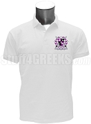Kappa Lambda Chi Polo Shirt with Crest, White