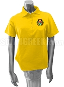 Kappa Lambda Delta Polo Shirt with Crest, Gold