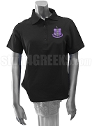 Kappa Lambda Xi Polo Shirt with Crest, Black