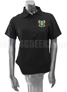 Kappa Phi Gamma Ladies' Polo Shirt with Crest, Black