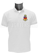 Kappa Psi Men's Polo Shirt with Crest, White