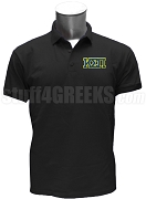 Kappa Sigma Pi Polo Shirt with Greek Letters, Black