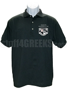 Knights Fraternity, Inc. Polo Shirt with Crest, Black