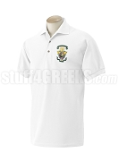 Lambda Chi Alpha Polo Shirt with Crest, White