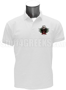 Lambda Iota Upsilon Polo Shirt with Crest, White