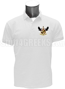 Lambda Pi Gamma Polo Shirt with Crest, White