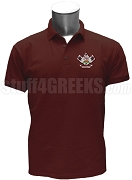 Nu Gamma Alpha Polo Shirt with Crest, Maroon
