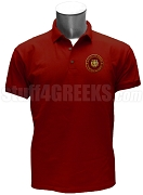 Nu Phi Zeta Polo Shirt with Crest, Crimson