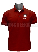 Nu Rho Sigma Men's Polo Shirt with Crest, Crimson