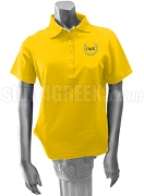 Omicron Delta Kappa Ladies Polo Shirt with Greek Letter, Gold