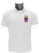 Phi Alpha Delta Men's Polo Shirt with Crest, White
