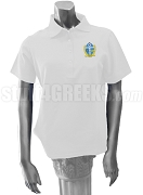 Phi Beta Chi Polo Shirt with Crest, White