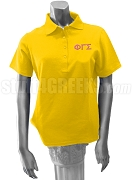 Phi Gamma Sigma Polo Shirt with Greek Letters, Gold