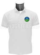 Phi Gamma Sigma Men's Polo Shirt with Crest, White