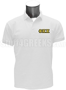 Phi Kappa Chi Polo Shirt with Greek Letter, White