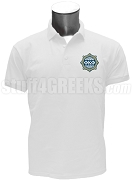 Phi Kappa Phi Men's Polo Shirt with Crest, White
