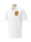 Phi Mu Alpha Polo Shirt with Crest, White