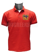 Phi Sigma Alpha Polo Shirt with Crest, Red