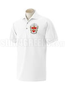 Phi Sigma Phi Polo Shirt with Crest, White