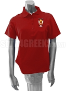 Phi Sigma Rho Polo Shirt with Crest, Burgundy
