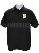 Pi Delta Psi Polo Shirt with Crest, Black