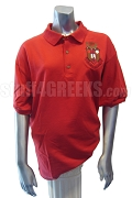 Sigma Alpha Iota Large Crest Polo Shirt, Red