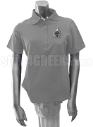 Sigma Delta Lambda Polo Shirt with Crest, Gray