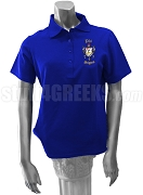 Phi Sigma Chapter of Sigma Gamma Rho Polo Shirt with Chapter Name and Crest, Royal Blue