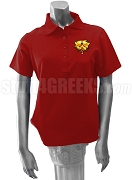 Sigma Iota Sigma Multicultural Sorority Polo Shirt with Crest, Red