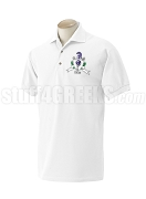 Sigma Kappa Phi Polo Shirt with Crest, White