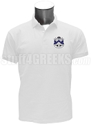 Sigma Omega Phi Polo Shirt with Crest, White