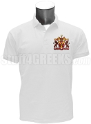 Sigma Phi Delta Polo Shirt with Crest, White
