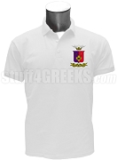 Sigma Phi Epsilon Polo Shirt with Crest, White