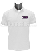 Sigma Alpha Beta Men's Polo Shirt with Greek Letters, White
