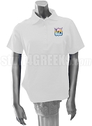 Tau Gamma Delta Polo Shirt with Crest, White