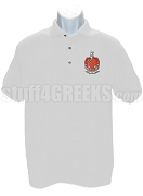 Tau Kappa Epsilon Polo Shirt with Crest, White