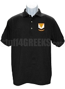 Theta Chi Psi Polo Shirt with Crest, Black