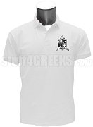 Zeta Phi Zeta Men's Polo Shirt with Crest, White