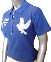 Zeta Phi Beta Flag and Dove Polo Shirt