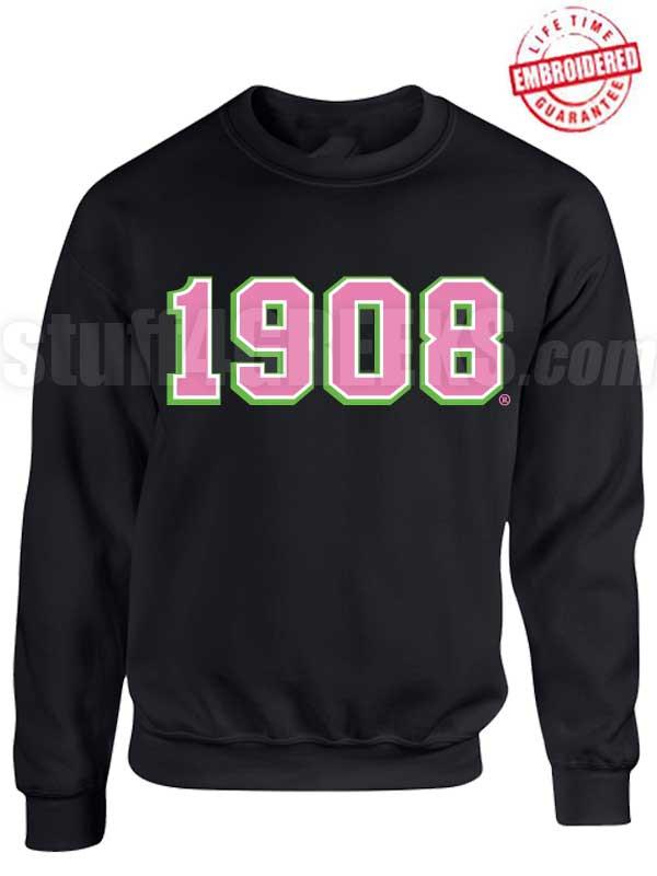 Alpha Kappa Alpha 1908 Triple Layer Crewneck Sweatshirt Lifetime Embroidery Guarantee