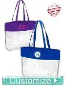 Custom Embroidered Clear Tote Bag