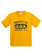 Alpha Phi Alpha Vintage Property Screen Printed T-Shirt with Greek Letters, Gold